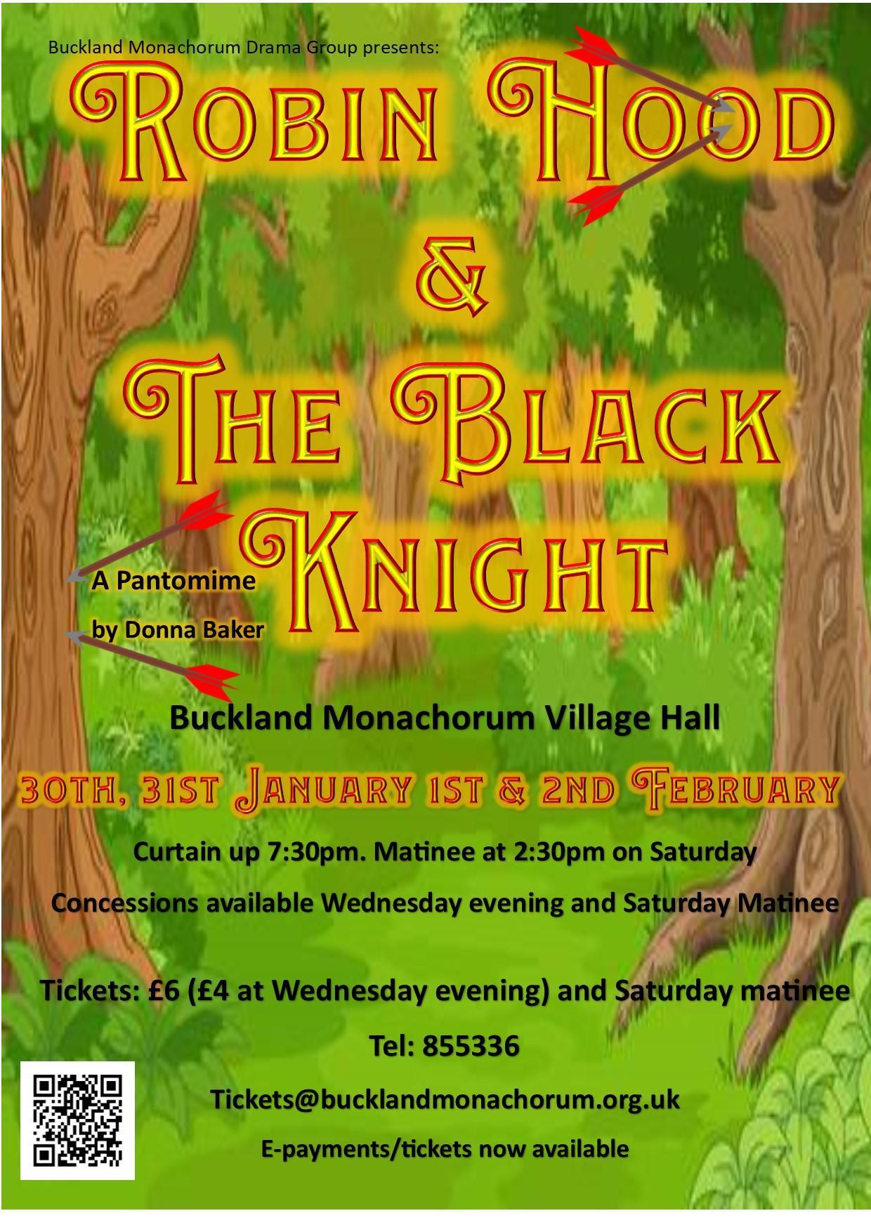 Robin Hood & the Black Knight – Buckland Monachorum Drama Group